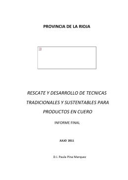 RESCATE Y DESARROLLO DE TECNICAS