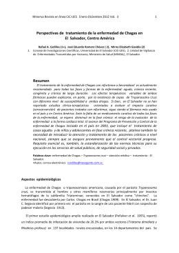 Perspectivas de tratamiento de la enfermedad de Chagas en El