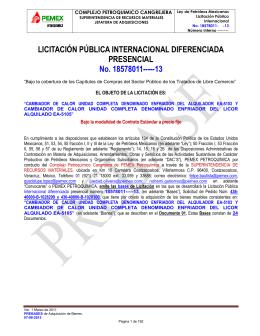 BASES DE LICITACIÓN - Pemex Petroquímica