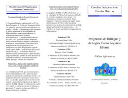 Programas de Bilingüe y de Inglés Como Segundo Idioma