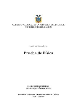 Prueba de Física - Ministerio de Educación