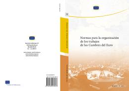 Normas para la organización de los trabajos de las Cumbres del Euro