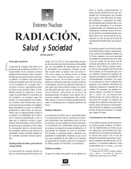 Radiación, salud y sociedad