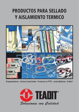 PRODUCTOS PARA SELLADO Y AISLAMIENTO TERMICO