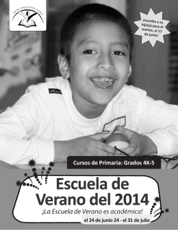 Escuela de Verano del 2014 - Racine Unified School District