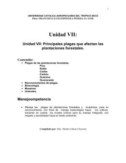 Unidad VII Plagas del Forestales 2011