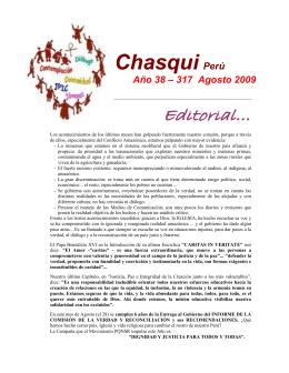 CHASQUI Perú Año 38 - 317 Agosto 2009