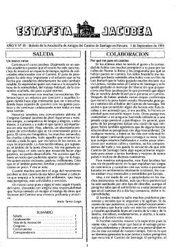 Estafeta Jacobea 30 212.98 KB - Amigos del Camino de Santiago