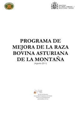 Programa mejora Asturiana Montaña. Definitivo