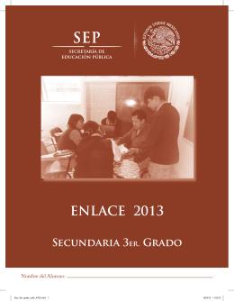 ENLACE 2013 - Secretaría de Educación Pública