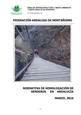 normativa de homologacion de senderos en