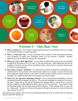 Provision 2 – New Base Year