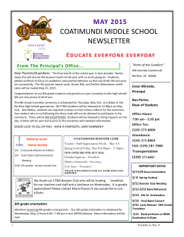 coatimundi middle school newsletter