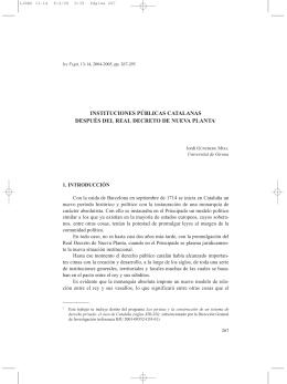 16. Instituciones Públicas catalanas después del Real Decreto de