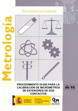 procedimiento di-005 para la calibración de micrómetros de