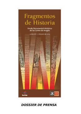 DOSSIER DE PRENSA - Cortes de Aragón