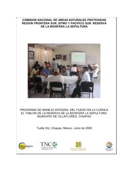 comision nacional de areas naturales protegidas region frontera sur