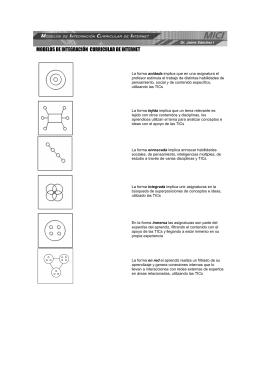 MODELOS DE INTEGRACIÓN CURRICULAR DE INTERNET