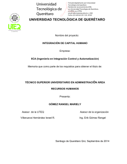 integración de capital humano - Universidad Tecnológica de
