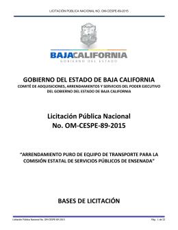 bases de licitación om-cespe-89-2015