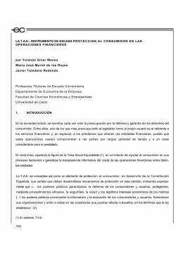 INSTRUMENTO DE ESCASA PROTECCION AL CONSUMIDOR EN