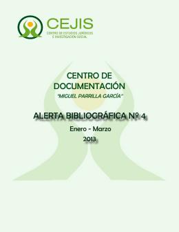 ALERTA BIBLIOGRÁFICA Nº 4 CENTRO DE