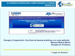 iii congreso internacional sobre desarrollo humano madrid 2011