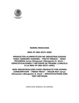 norma mexicana nmx-ff-084-scfi-2009 productos