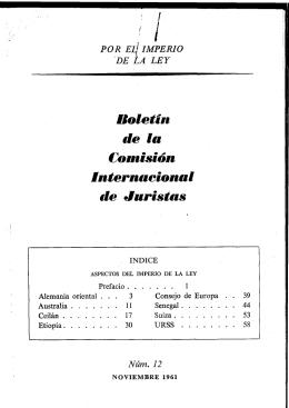 I Boletín de la Comisión internacional de Juristas