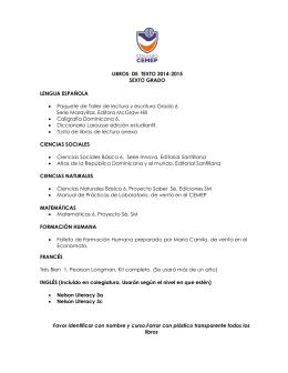 LIBROS DE TEXTO 2014-2015 SEXTO GRADO