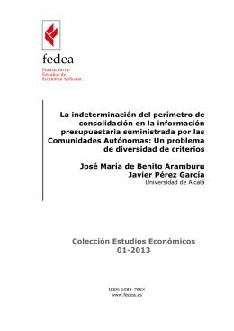 La indeterminación del perímetro de consolidación en la