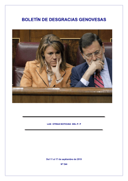 Boletín nº 544. Del 11 al 17 de septiembre de 2010