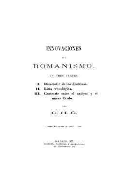 Imnovaciones del Romanismo