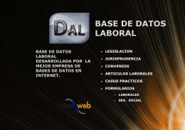 Base de Datos Laboral
