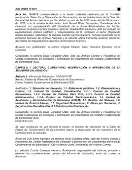 Acta N° 13-2012 - Archivo Nacional de Costa Rica