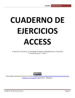 Cuaderno de Ejercicios Access Alumno