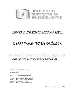 departamento de química - Universidad Autónoma de Aguascalientes
