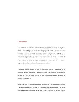 I. Introducción Esta ponencia no pretende ser un estudio exhaustivo