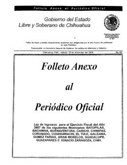 Folleto Anexo al - H. Congreso del Estado de Chihuahua