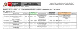 Bienes y Servicios Febrero - Hospital Cayetano Heredia