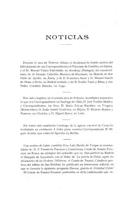 Noticias. Boletín de la Real Academia de la Historia, tomo 74 (marzo