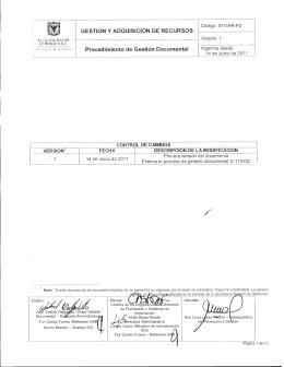 1D-GAR-P2(16) - Procedimiento de Gestión Documental