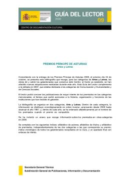 premios príncipe de asturias - Ministerio de Educación, Cultura y