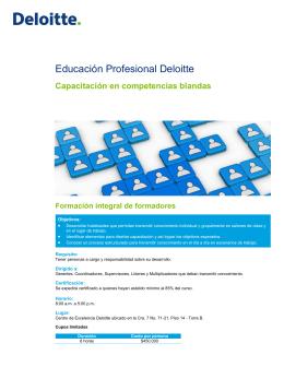 Educación Profesional Deloitte
