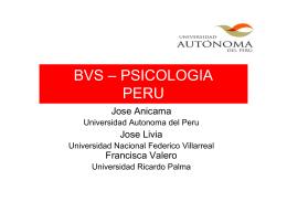 BVS – PSICOLOGIA BVS PSICOLOGIA PERU
