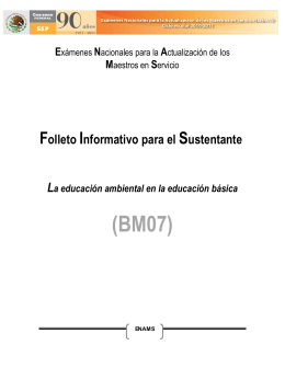 Descargar Folleto Informativo ENAMS 2010-2011