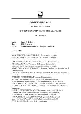 ACTA No. 021 - Secretaría General
