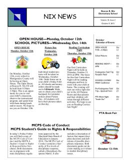 English and Spanish - Montgomery County Public Schools