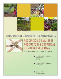 asociación de mujeres productoras orgánicas de nueva esperanza