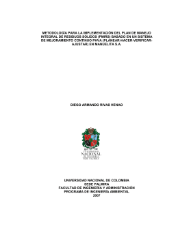 PDF (Metodología para la implementación del plan de manejo de